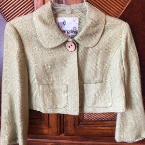 NWT Kenzie green tweed cropped blazer sz4